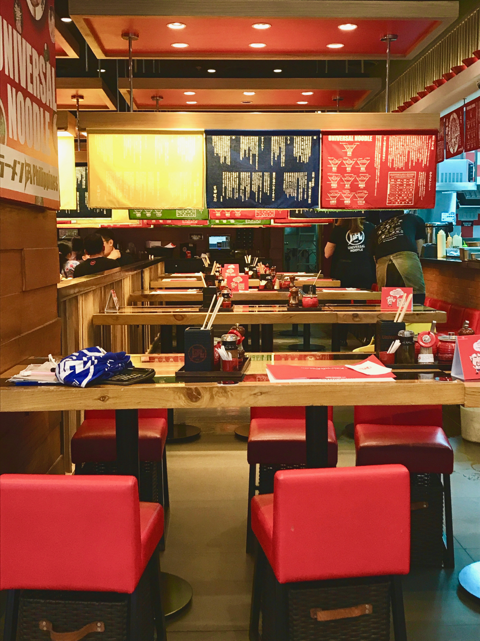 - We have a Ramen Nagi we usually frequent but the interiors aren't up to par with the new location at Galleria. It has all the legit Japanese feels.