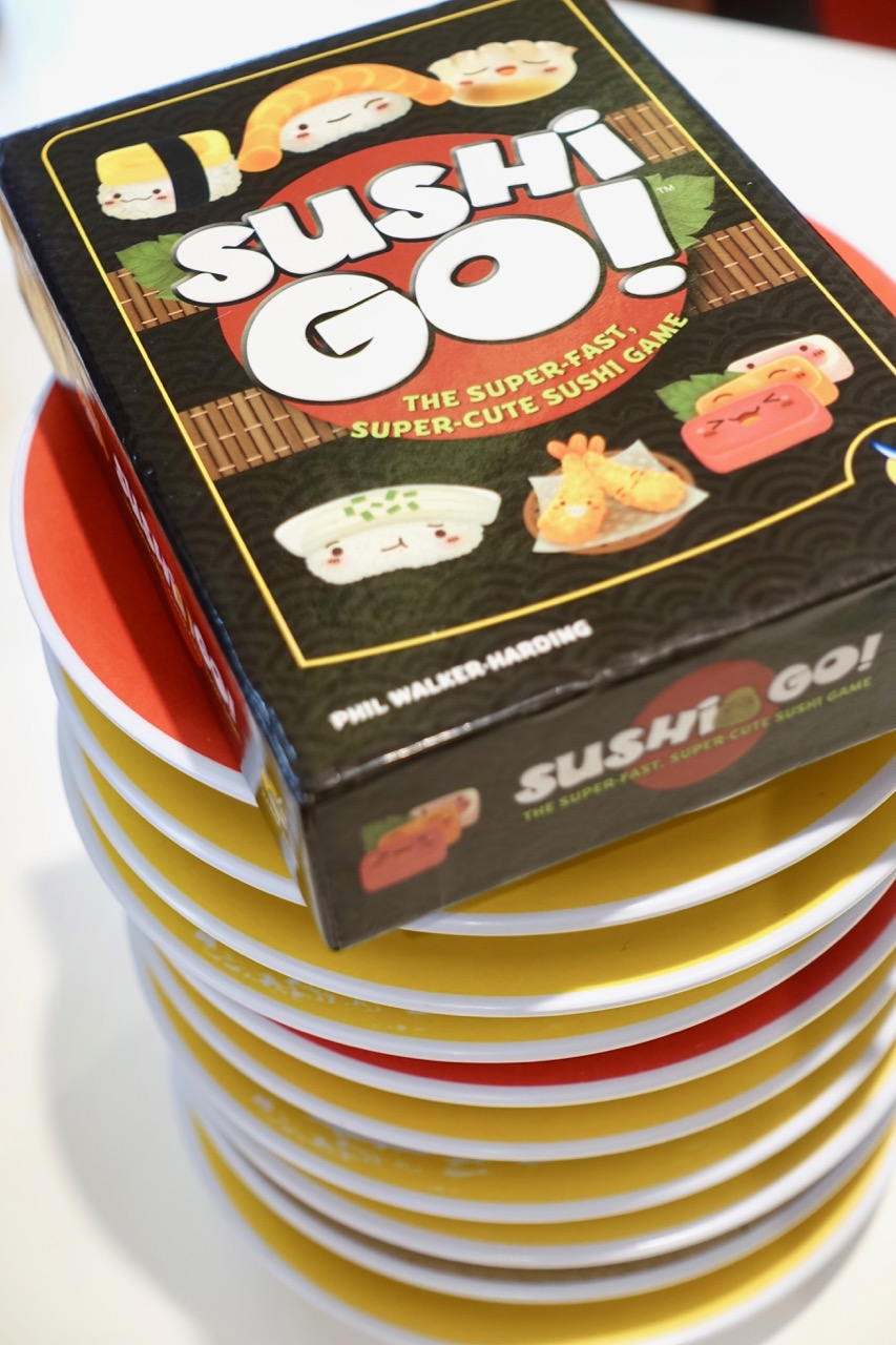 - Sushi Go sits atop the throne of consumption. One of our favorite traditions to do at Sushi Go is stack our plates and count how many there are.