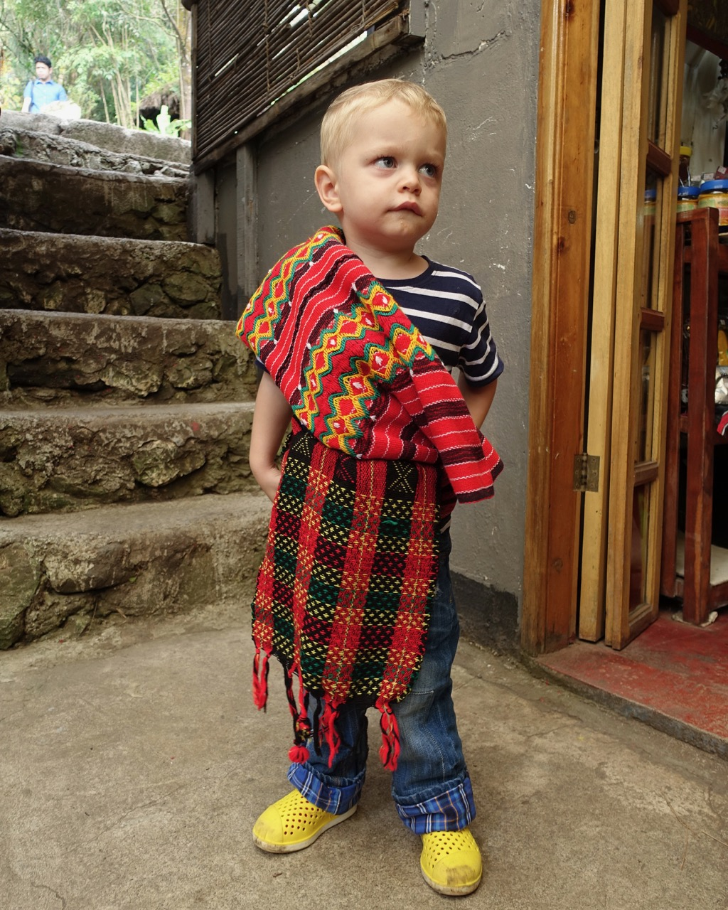 - I had to sneak a photo of toddler Ozzie as my baby igorot during our 10 day trip of Ilocos + Baguio.