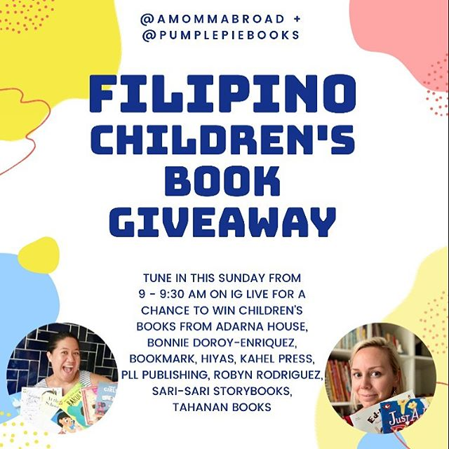 MAGANDANG GABI! This month is literacy month and I'm so excited to announce that @pumplepiebooks and I (with a list of beloved publishers as well!) have teamed up to bring all y'all a Filipino Children's Books Giveaway! Tune in to our IG LIVE video this Sunday September 22, from 9-9:30 AM. Mechanics to follow tomorrow. Get excited! We are! @adarnahouse @bondoren @kahelpress @pllpublishing @sarisaristorybooks @tahananbooks @omflit @robynchuar