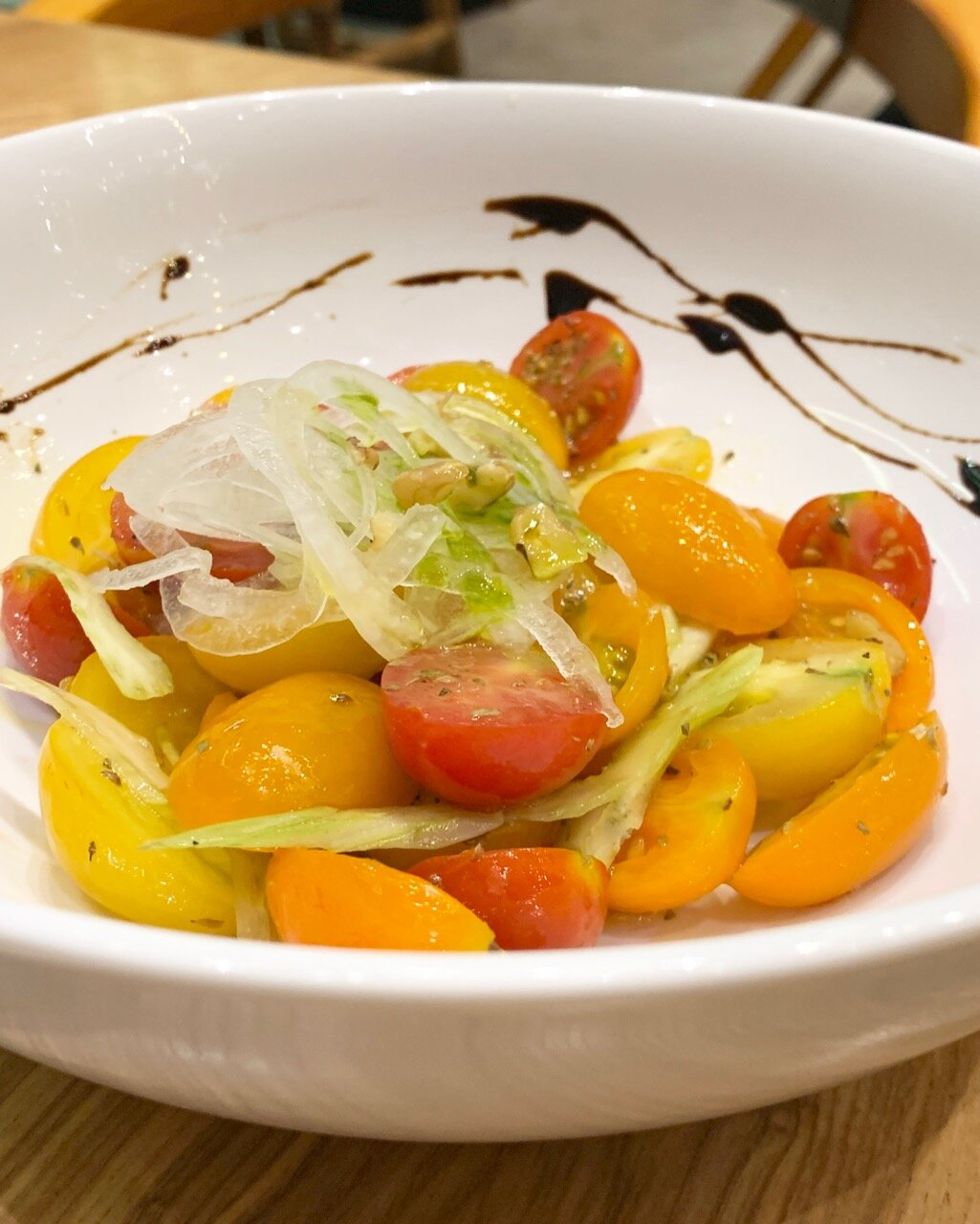 - The native tomato salad that mustn't be skipped!