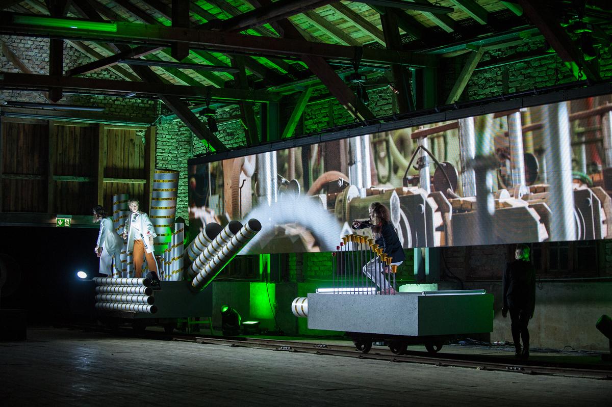 Performance at Sägewerk Achortmühle in Mondsee 2018, © Bernhard Müller