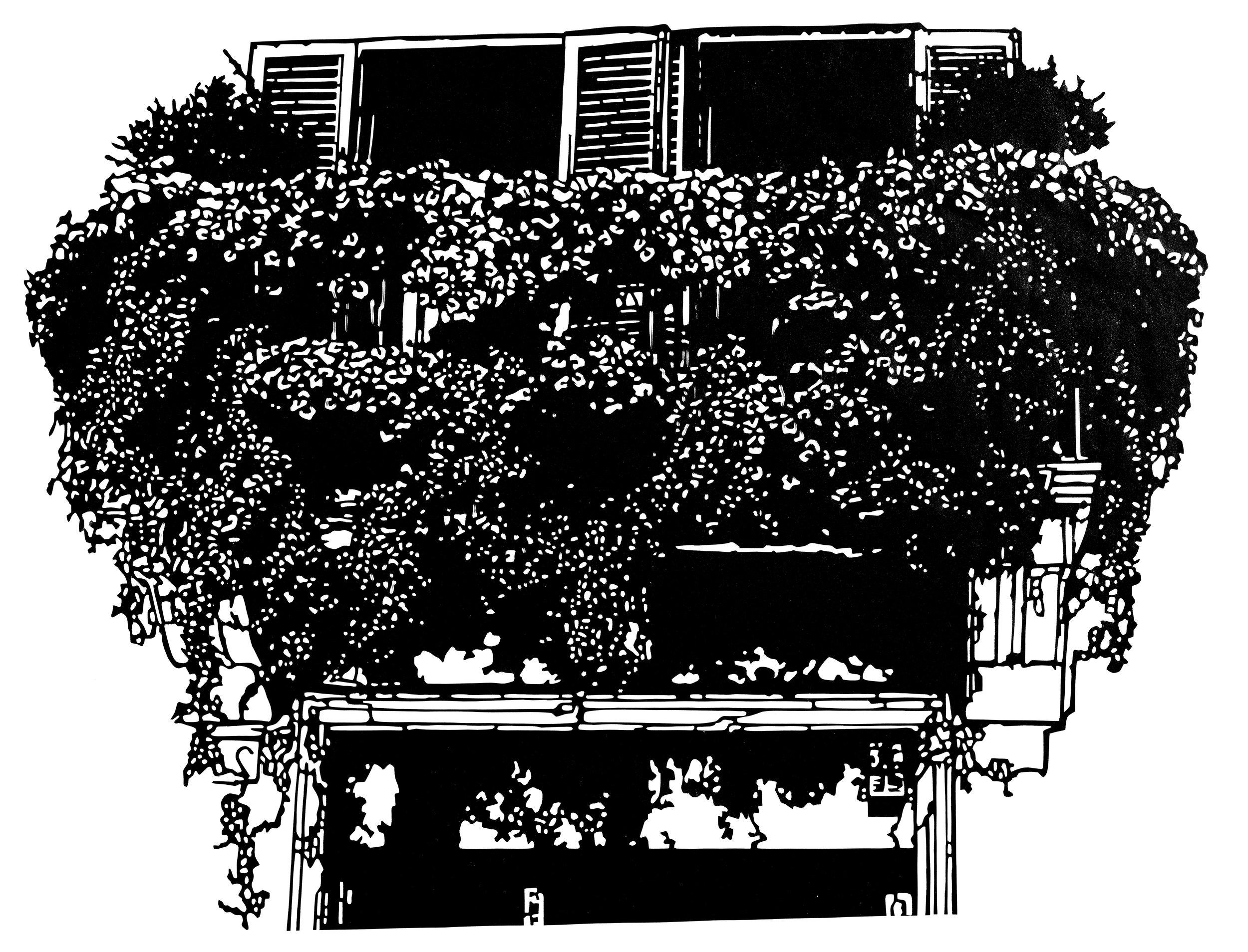 Das Fenster zum Hof, 52 x 44 cm