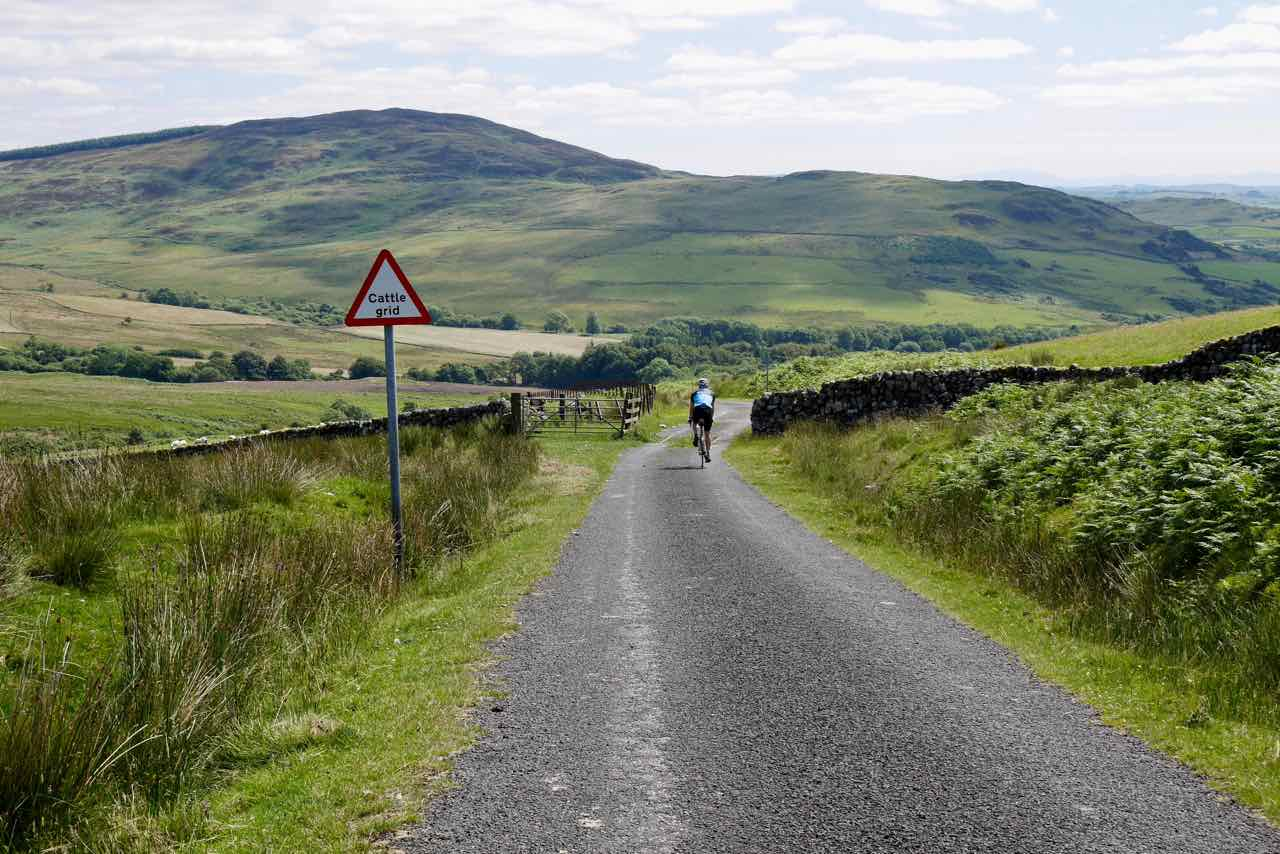 High road in the Galloway Hills