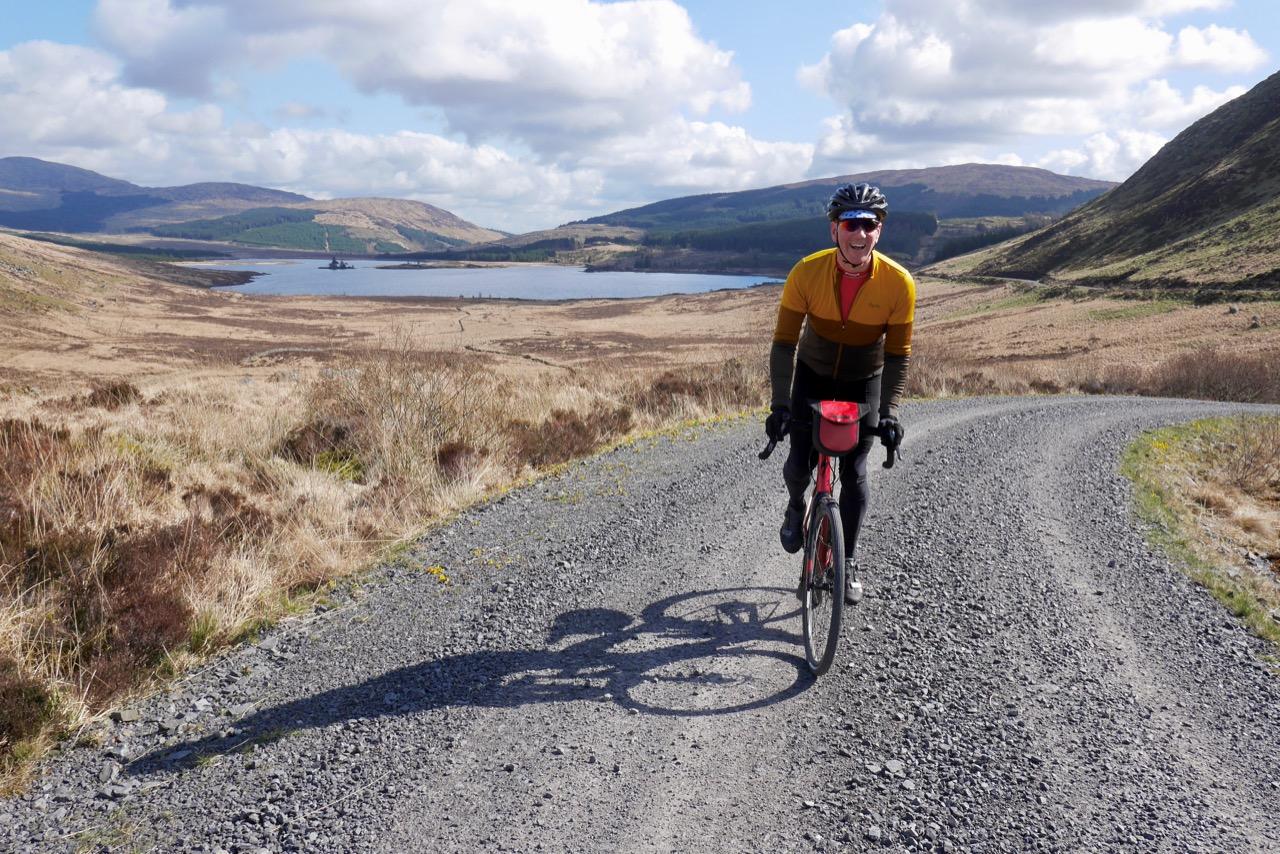 gravel biking = a very big smile