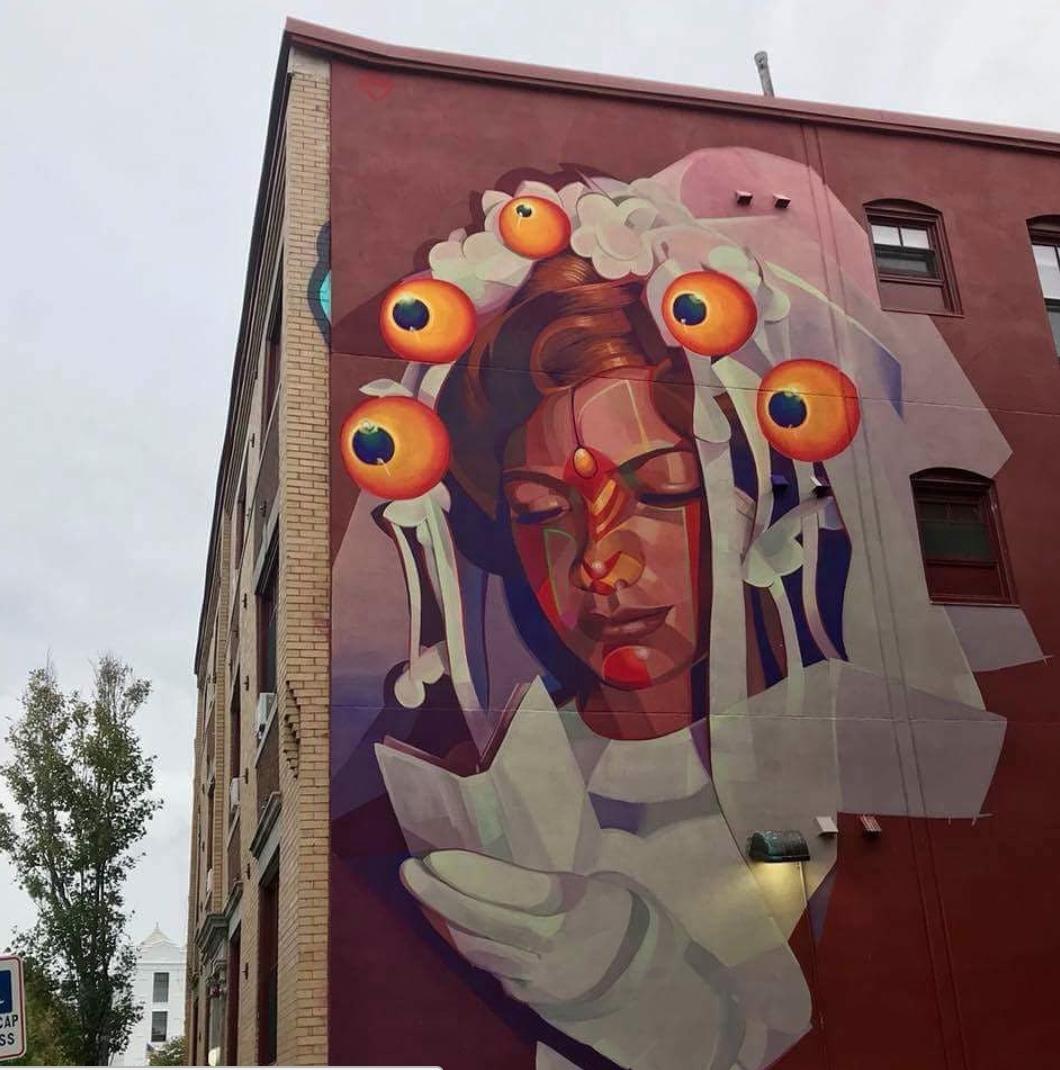 GLeo  Punto Urban Art Museum, Salem, Massachusetts.