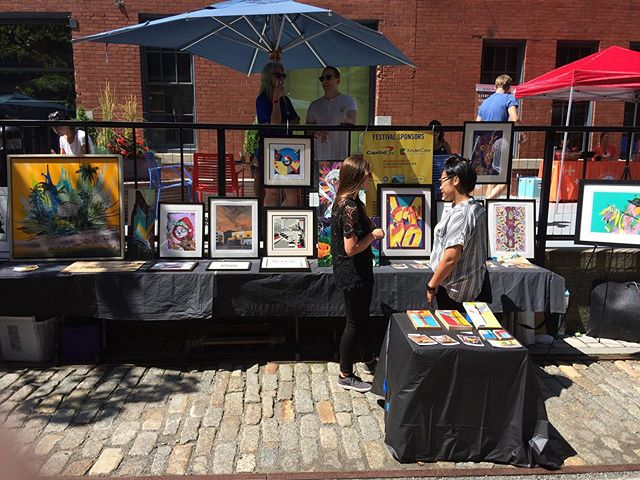 Fun pop up this past Sunday at the Fort Point Fest in Southie. #summervibes #bringthearttothepeople #youcansellartanywhere