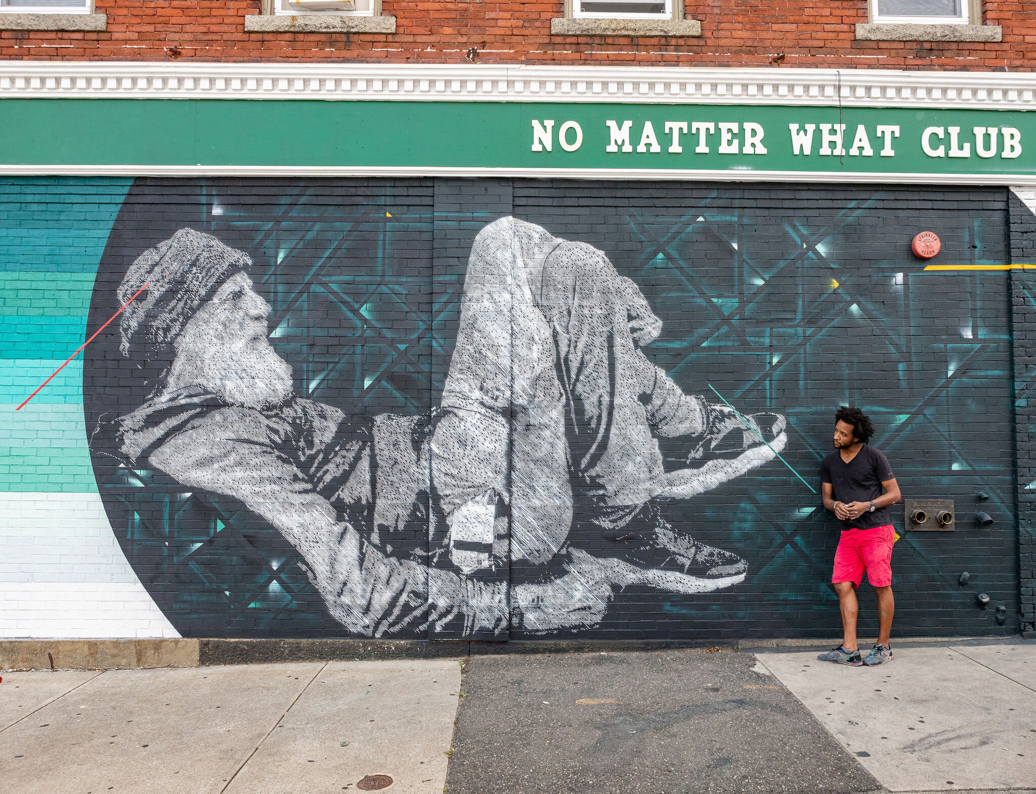Ivan Salazar  Mural created for Beyond Walls Street Art Festival 2019, Lynn, MA.