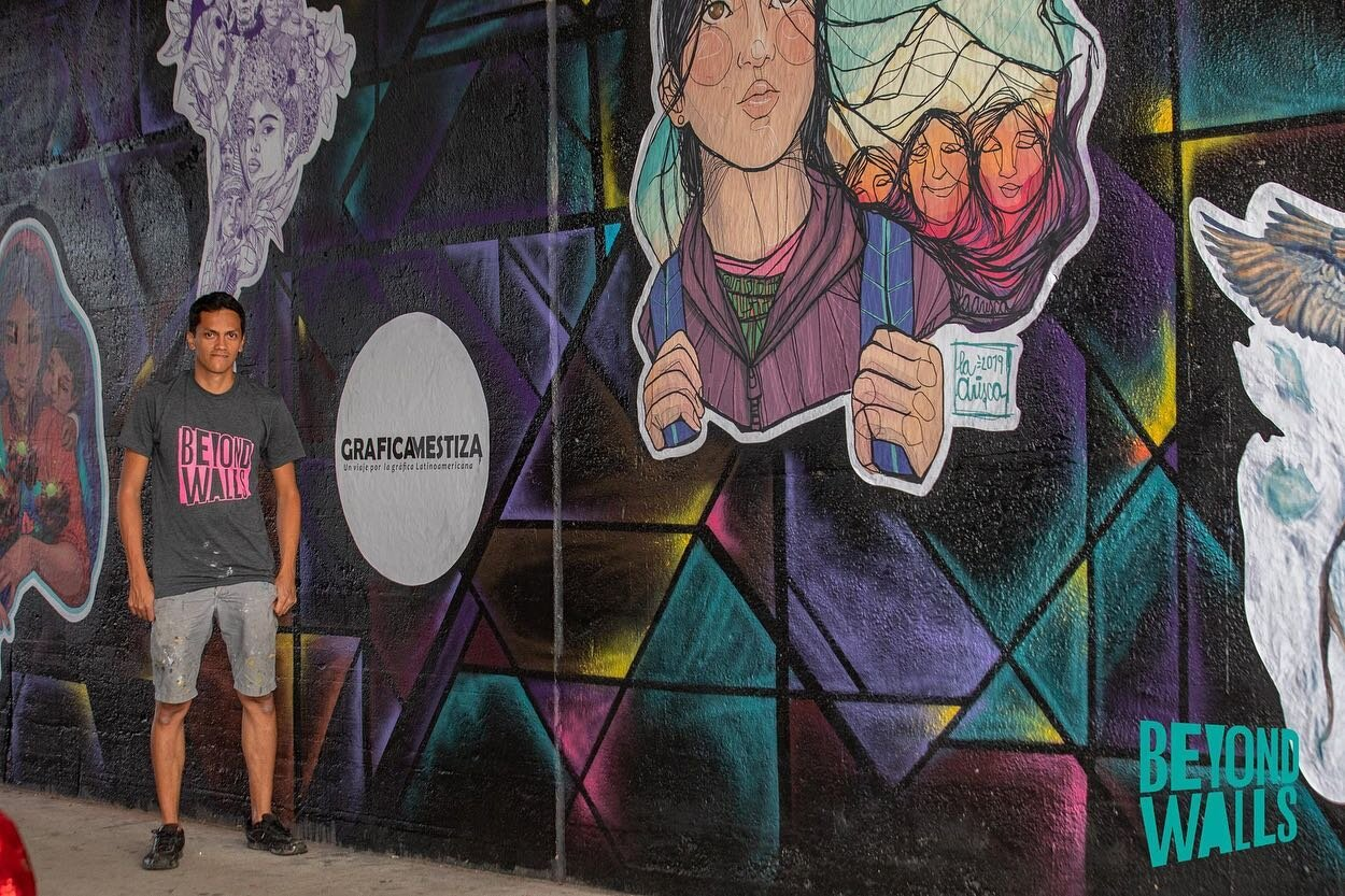 Gráfica Mestiza   Wheatpaste project completed for Beyond Walls Street Art Festival 2019, Lynn, MA.