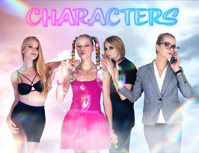 "My main characters.  If I had to break down my personality to 4 main characters, they would be the following:  THE LOVER:  She's on the lookout for her crush. When someone captures her attention, she wants nothing more than to seduce him by her sassy comments and flirty looks. She's not afraid to show some skin, she's not a big fan of clothes anyway. Logic is not her strong-suit, and she can easily get enchanted by what she considers ""good looks"". Most people don't or barely know her, because she only reveals herself fully to one she chose when it's time to get sexy (or when it's time to write a naughty blog lol)... THE LITTLE ONE: She's my inner child. She thinks the world is her playground. She's dreaming day and night and she believes everything's possible. Most of my creative ideas come from her because she thinks with no limits. She's very naive which makes her the most vulnerable one. She loves unconditionally but she also needs the love of others in order to function. She's open minded, curious and loves to try new things. If you're in her company get ready for playful jokes, hugs, kisses and silly conversations... THE FEARFUL ONE: Oh man! She's scared! Everything she's never seen, touched, heard, felt absolutely terrifies her. She's constantly in the ear of the others whispering and trying to hold them back from ANYTHING that could possibly hurt me. She's anxious a lot because she sees everything as a threat. She's worries about what people think of me and tends to dwell upon bad experiences. She's scared of physical pain but what she's the most terrified of is heartbreak... And last but not least, THE MANAGER: She's the reason for any of my achievements, because she lives in the real world. She knows dreaming is not enough. In order to succeed actions must take place. She sets goals, deadlines and pushes me to get out of bed. She milks the creativity of the little one and shuts the fearful one down when necessary. Her biggest pet peeve is EXCUSES. She hates it from me, she hates it from everyone else. She can be a bit harsh sometimes, but she has my best interest at heart..."