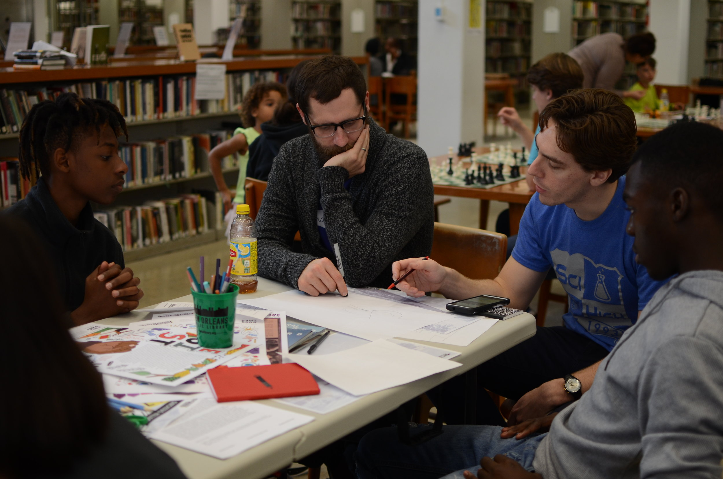 History Unbound, a read-in, write-in, research-in at the Main Library