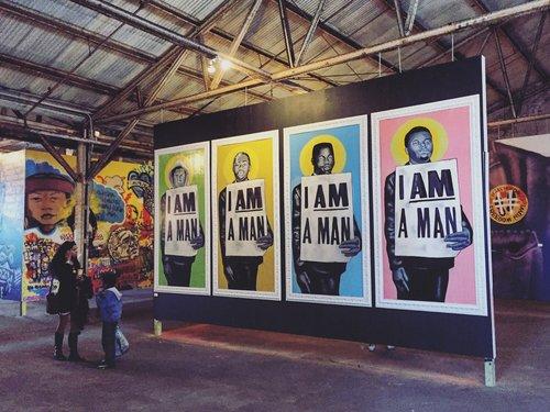 Portraits of Trayvon Martin, Oscar Grant, Eric Garner, and Michael Brown at Brandan Odums' Studio Be, New Orleans, LA  Photo - NOLA.com | The Times-Picayune