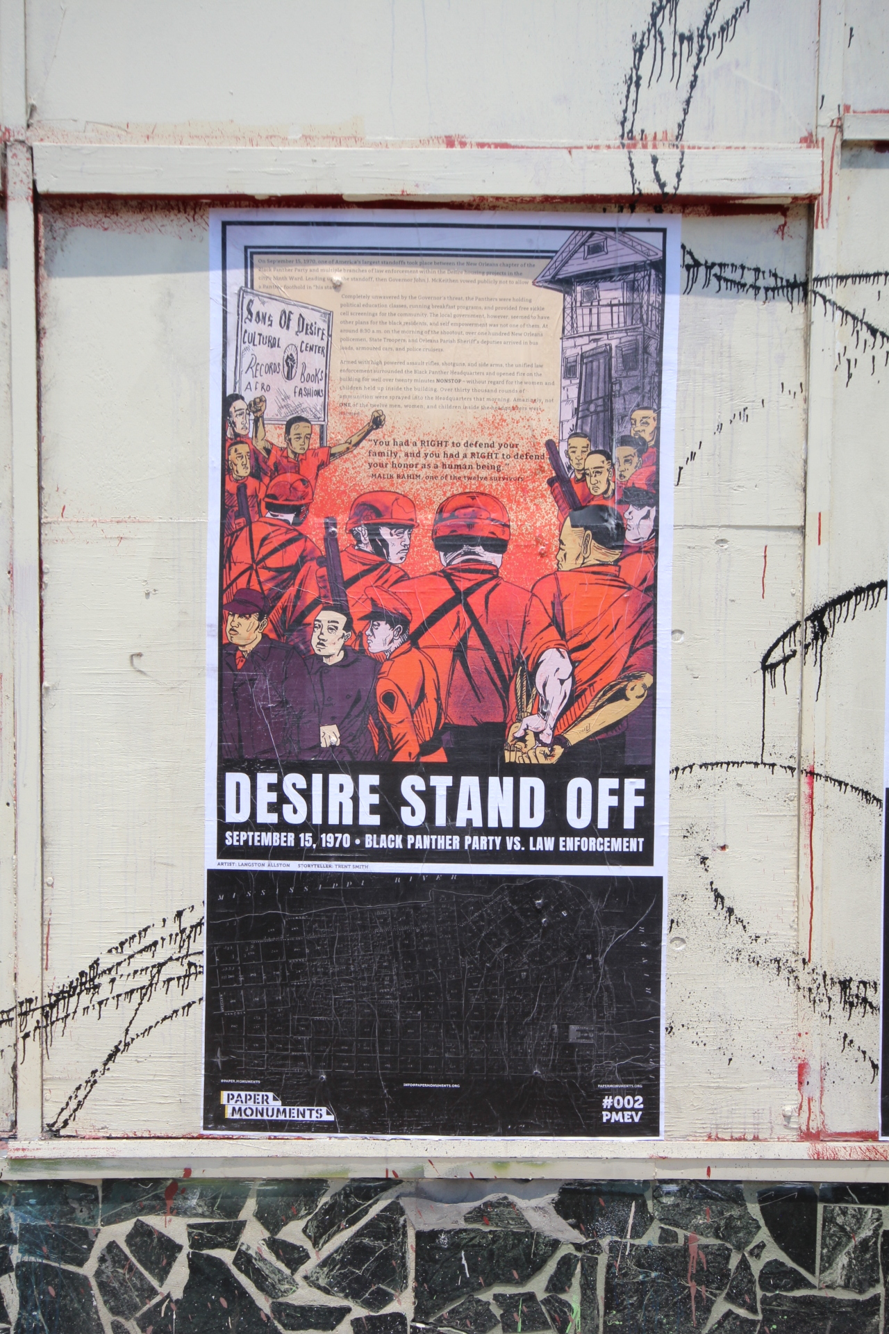 PMEV#002 Standoff in Desire installed at the Rampart Street site.