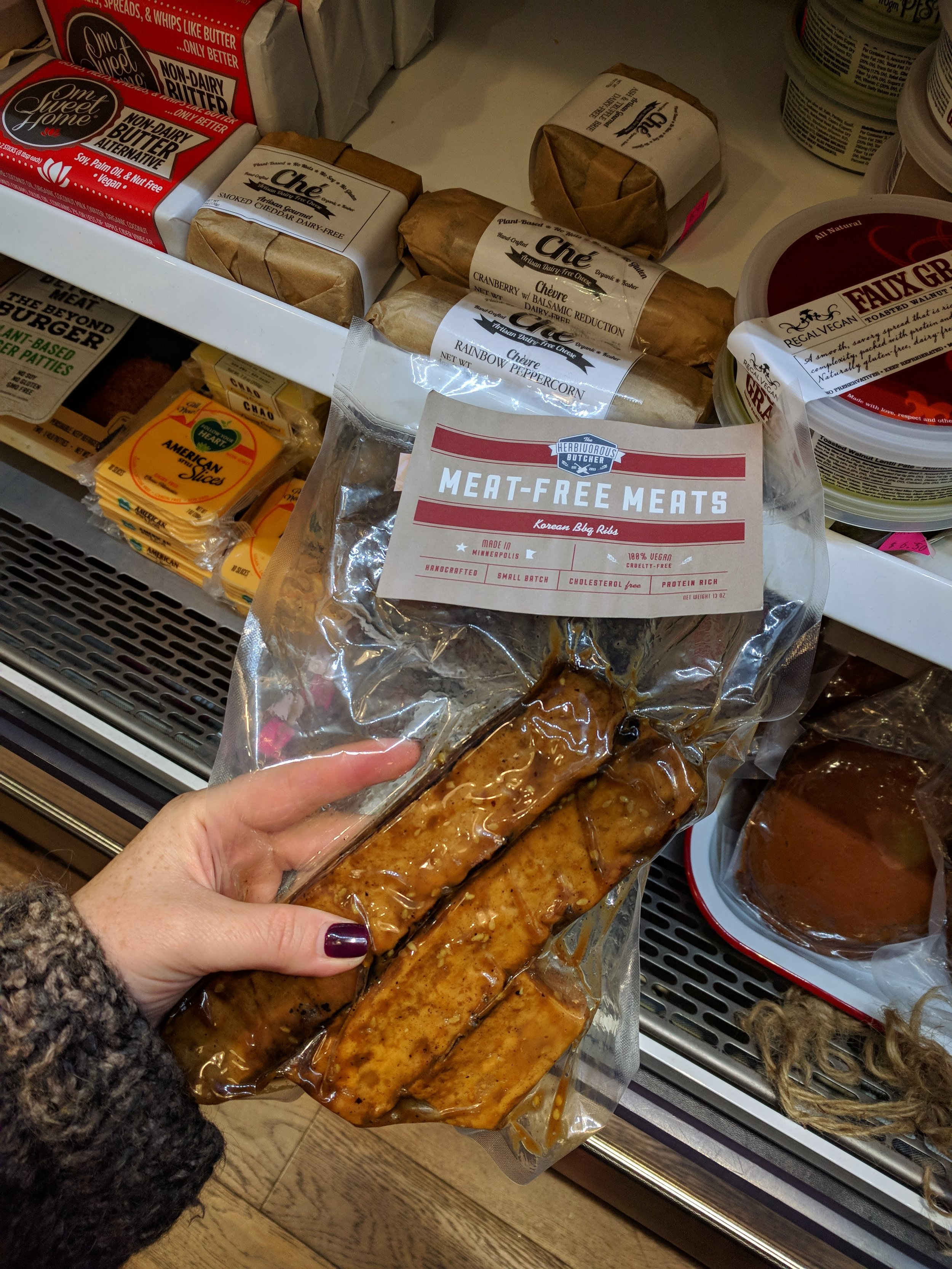 Orchard Grocer, reppin' the vegan meats that I don't splurge on, sheesh