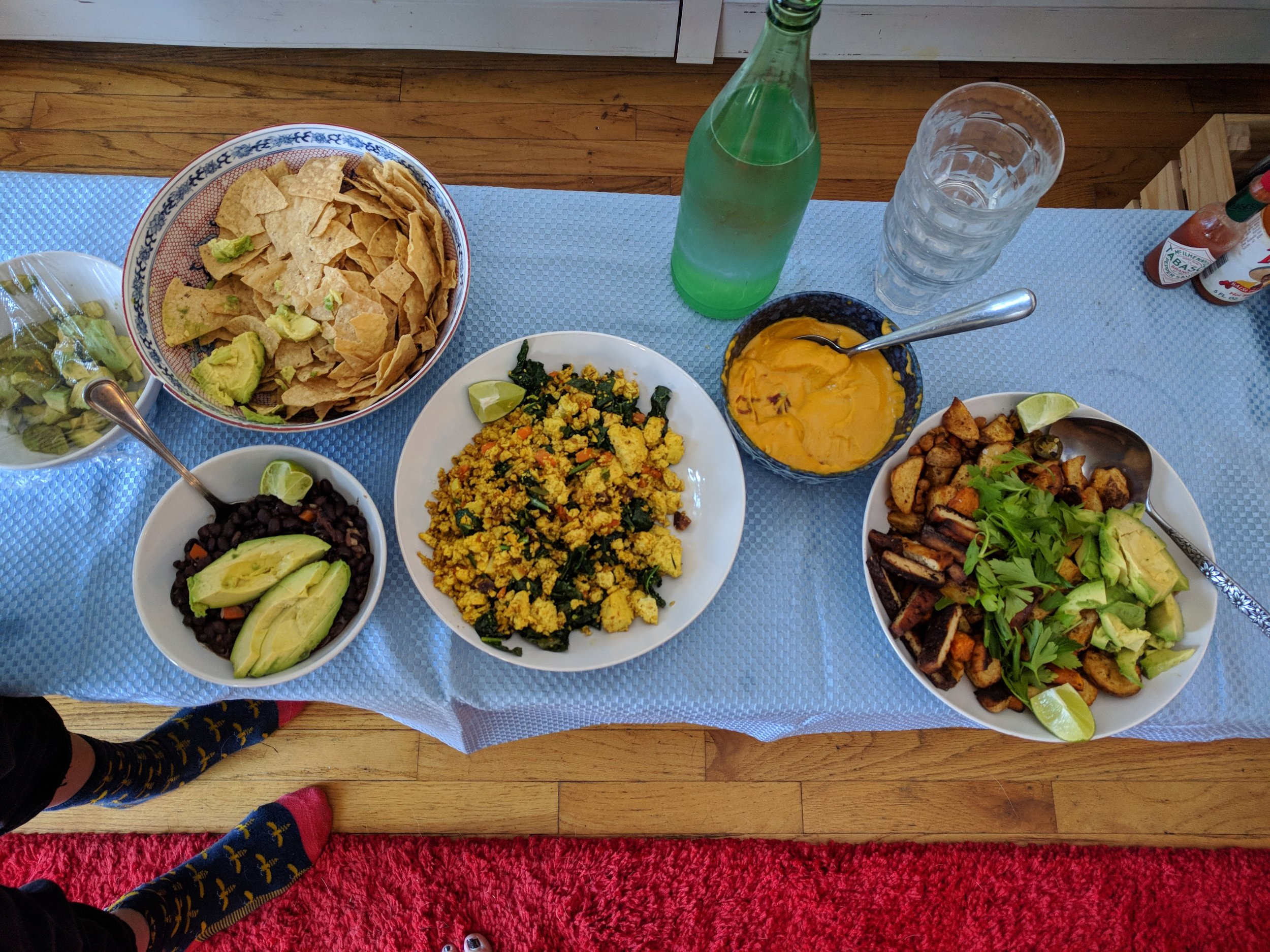 And this would be Thanksgiving dinner, 2017