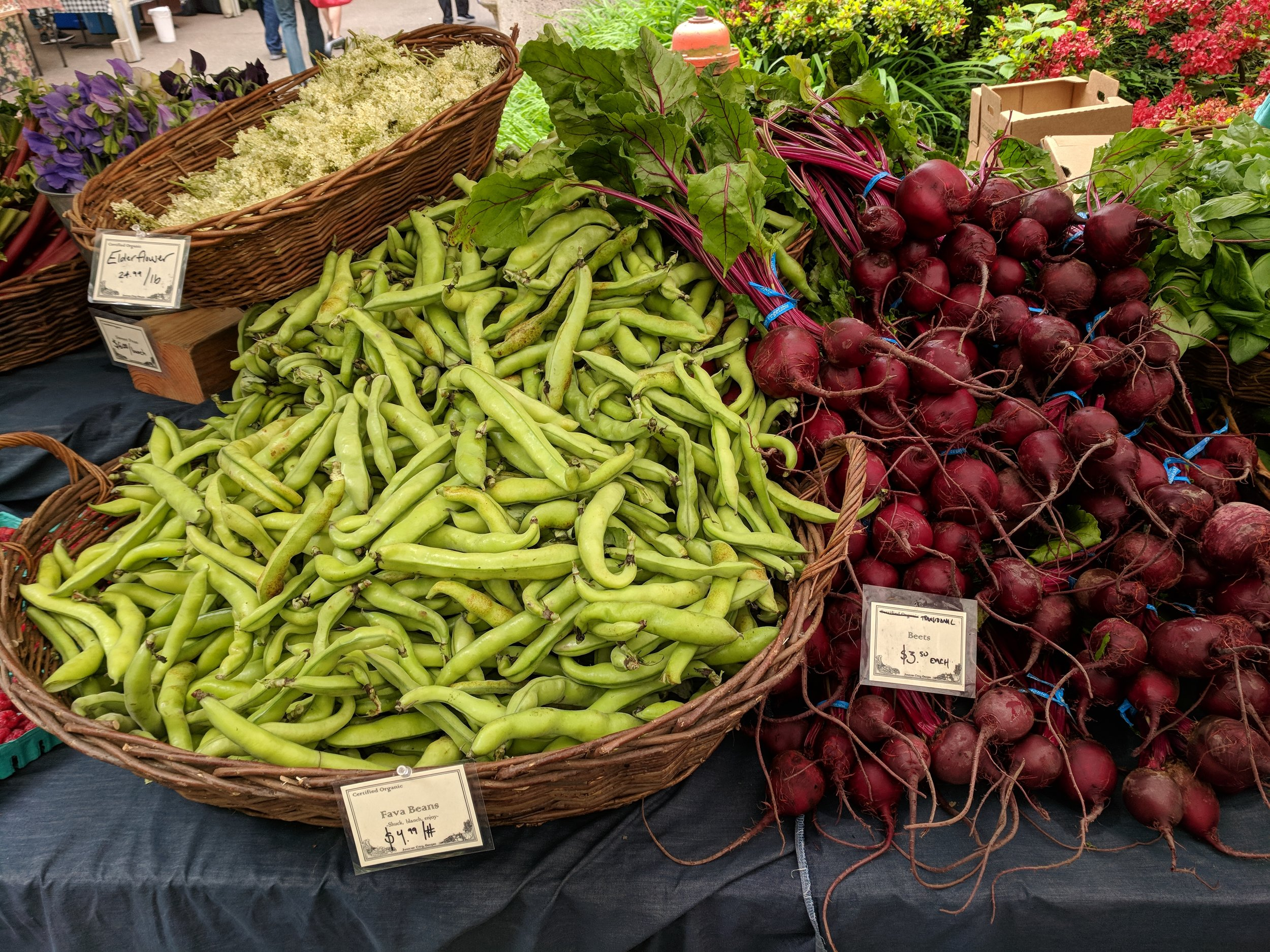 Speaking of favas, which are great and worth all the peeling, I was THIS close to buying fava leaves, which I'll controversially add are…even…more…special