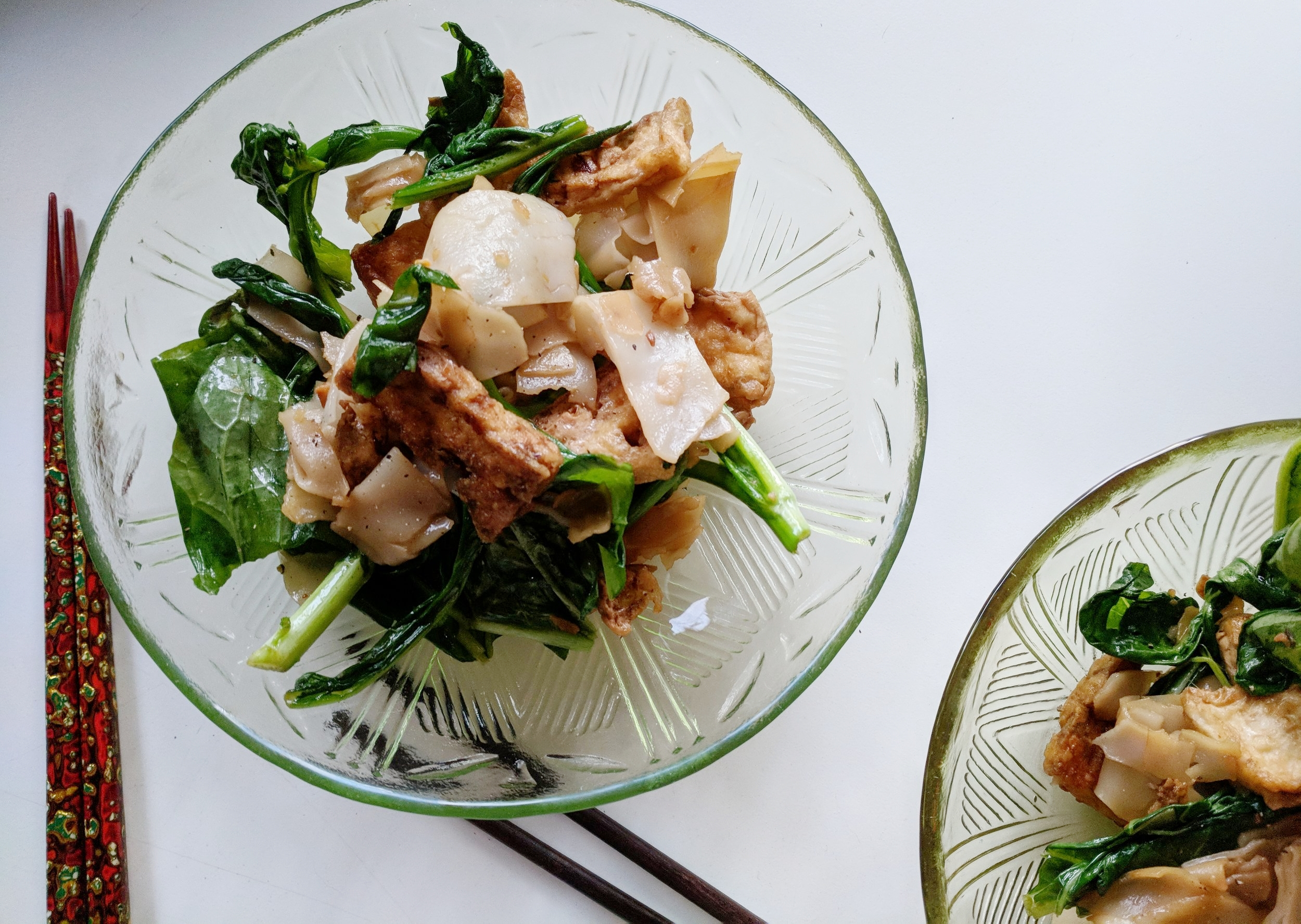 Pad See Ew with the fresh rice noodles, adapted from Eating Thai Food