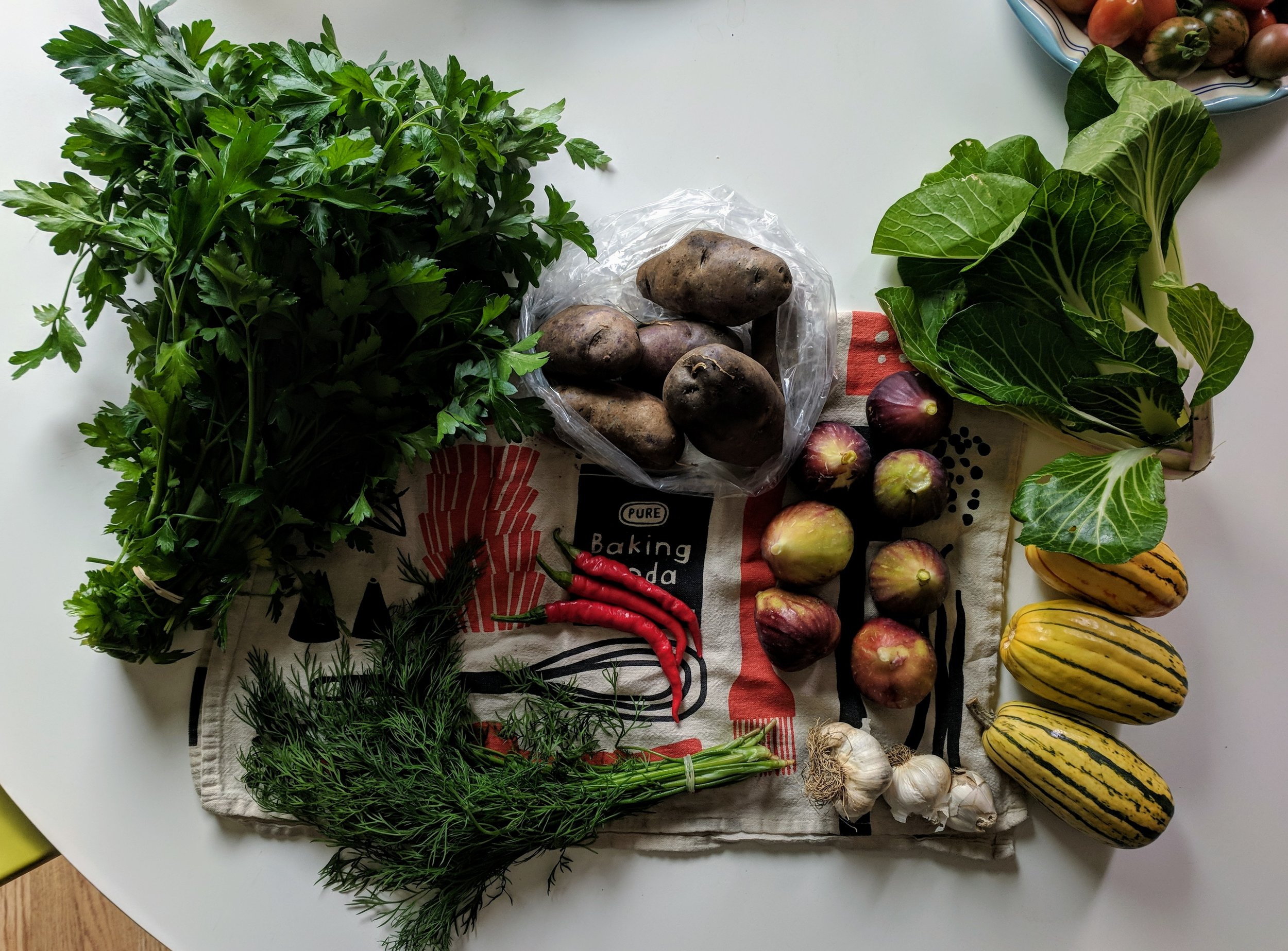 September rules. Pictured: weekend farmers market haul from Lents International Farmers Market