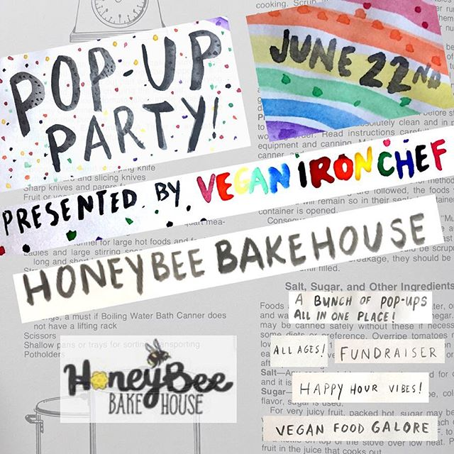 @honeybeebakehousepdx will also be at our #PDXPopUpParty 😍 We can't wait to see what goodies they'll have! Huge congratulations to them on the birth of their healthy baby as well 🥳 #HoneyBeeBakeHouse #VeganIronChef