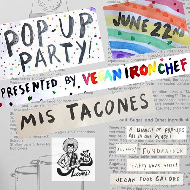 We can't wait for @mistaconespdx to be at our #PDXPopUpParty! Their next pop-up will be May 5, 12-3pm at Panaderia 5 de Mayo ✨ Tickets to our event are now available through the link in our bio! #MisTacones #VeganIronChef