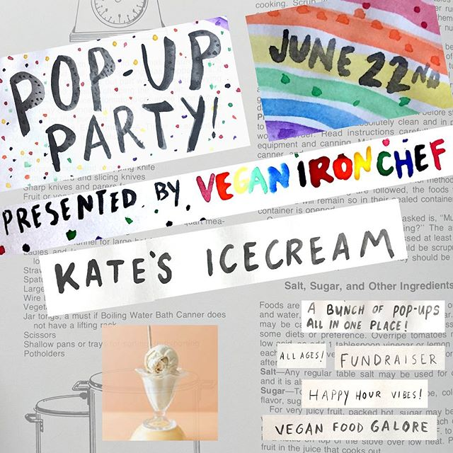 Bonus vendor announcement!! We're thrilled that @katesicecream will also be at our #PDXPopUpParty at @lagunitasbeer community center on June 22nd! Tickets in our bio! #KatesIceCream #VeganIronChef