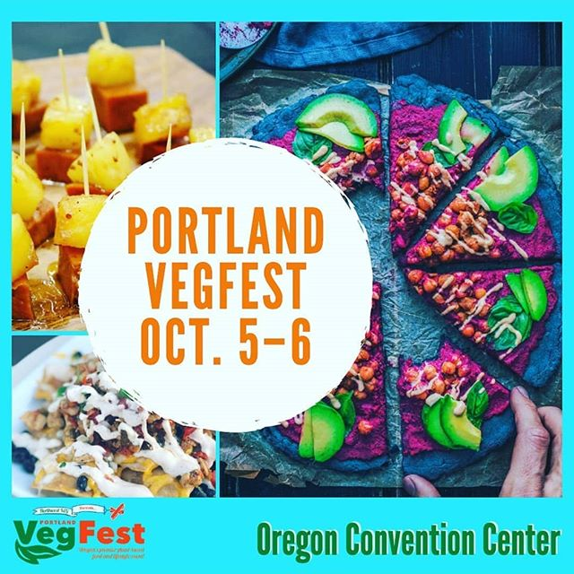 stoked to officially be tabling at next month's @portlandvegfest !!! . . when: oct 5-6, 2019 where: oregon convention center exhibit halls . . come say HEY and learn how to get involved with our vegan-food-obsessed programs & events for 2020 — including the return of the #pdxpopupparty, seasonal cookbook clubs and the much-rumored namesake VIC cook-off ! tba! tbd! 😎😎😎