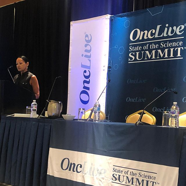 Lisa Newman delivering an excellent presentation on genetics of breast cancer disparities and Triple negative breast cancer related to African ancestry #StateOfScience #OncLive #NY @WCMSurgery @WeillCornell