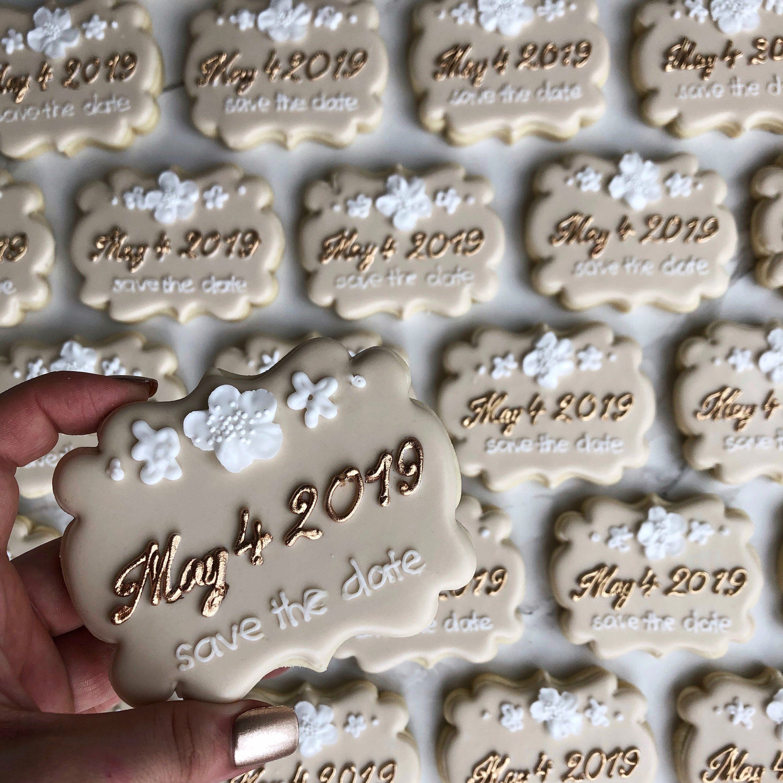 "Engagement party ""Save the Date"" cookies -"