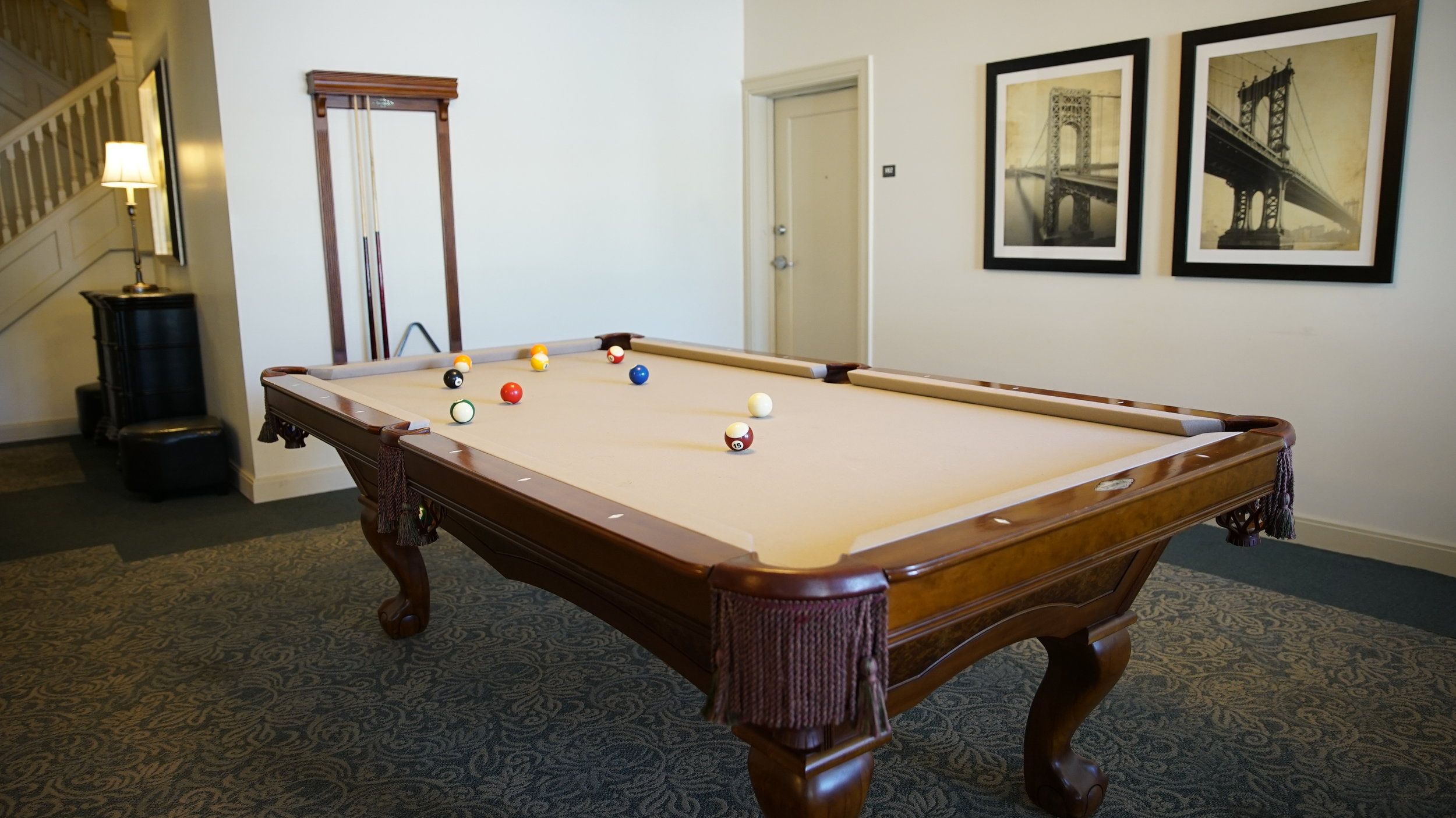 chatham senior apartments pool table