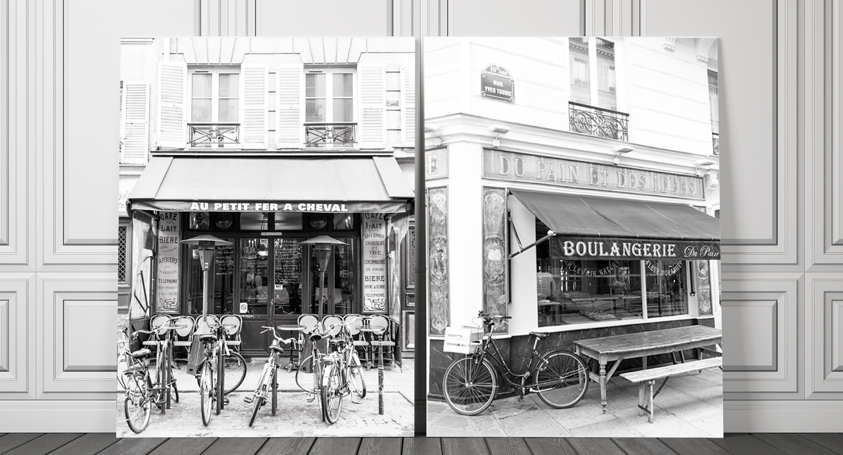 Black and White Paris Home Decor Fine Art Photography Prints