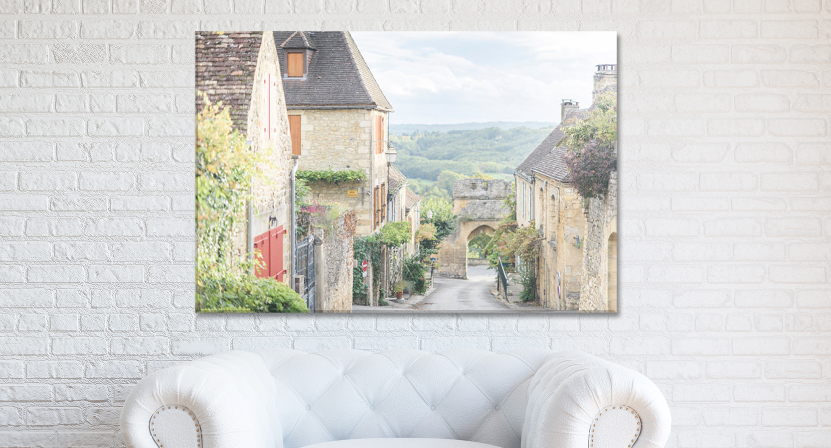 Home Decor Canvas Wall Art, Evening in Domme, France