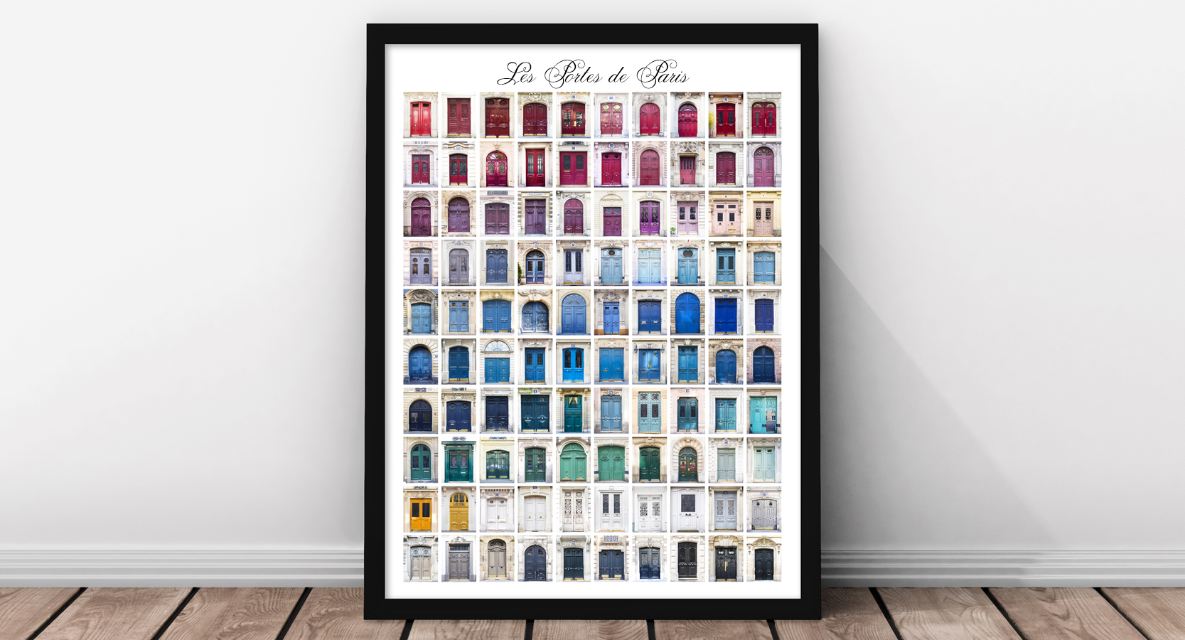 100 Paris Doors Home Decor Poster