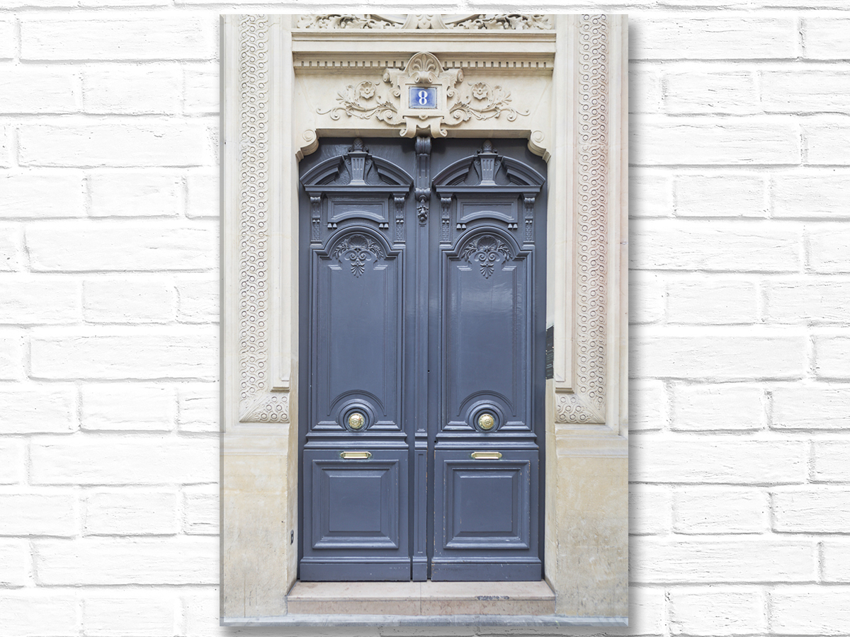 Home Decor Canvas Wall Art Grey Door No. 8