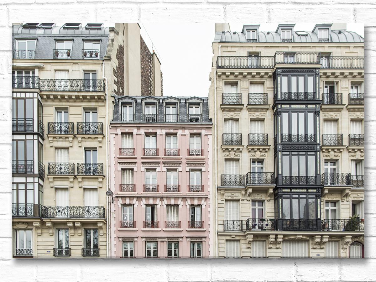 Paris France Home Decor Canvas Wall Art, The Pink Apartments