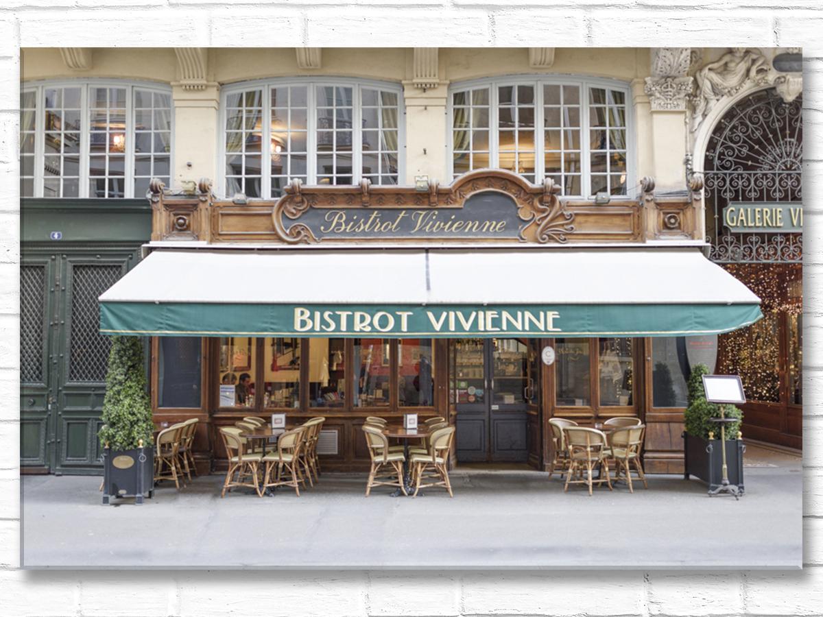 Paris France Home Decor Canvas Wall Art, Bistrot Vivienne