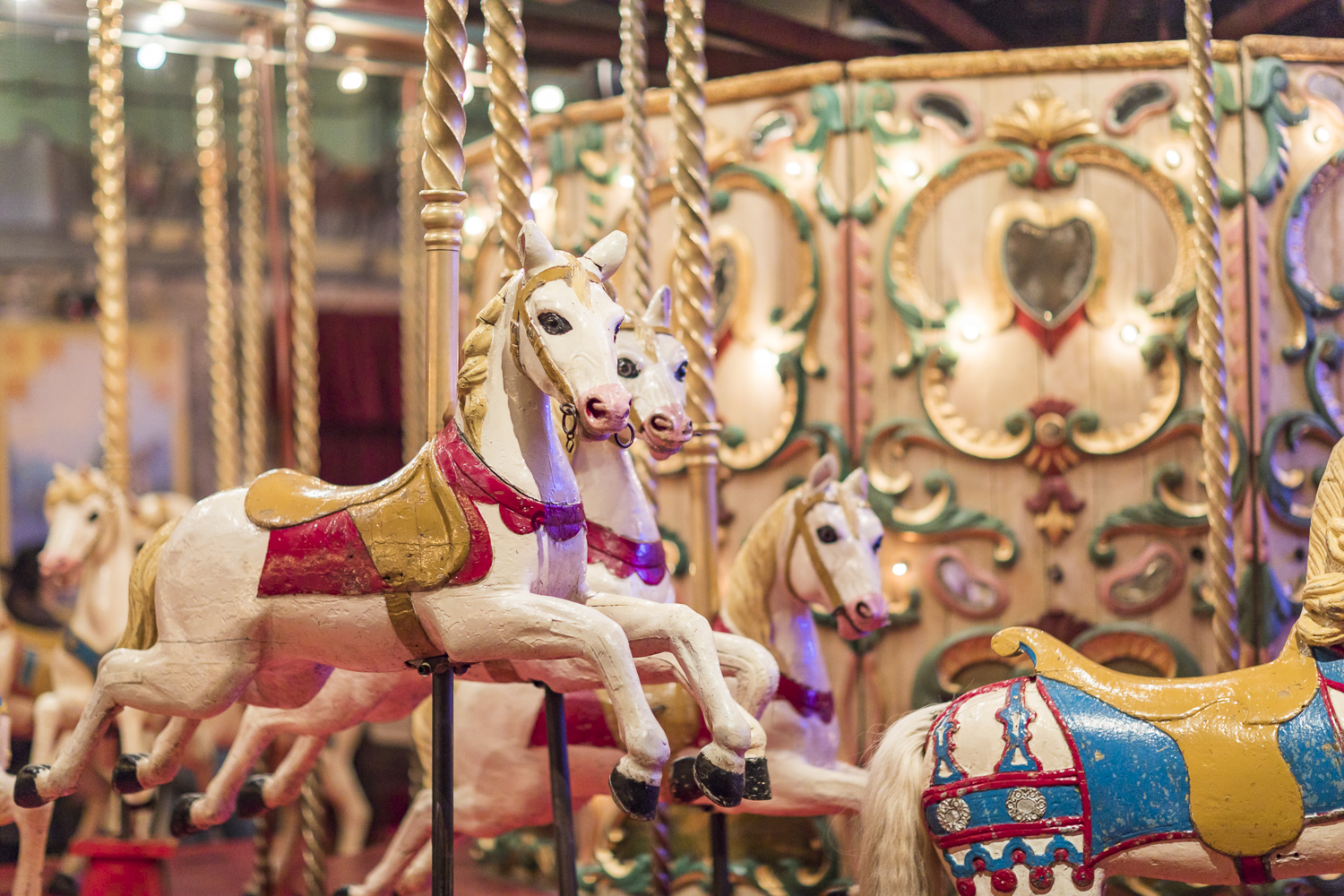 The carousels from the early 1900 Paris fairgrounds are simply beautiful. And they are not in the museum just to look at. As you will see in the video at the end of the blog post, they are in full use!