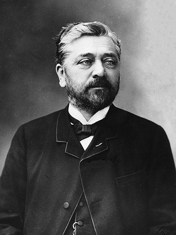Gustave Eiffel photographed in 1888 by the famous French photographer Félix Nadar.