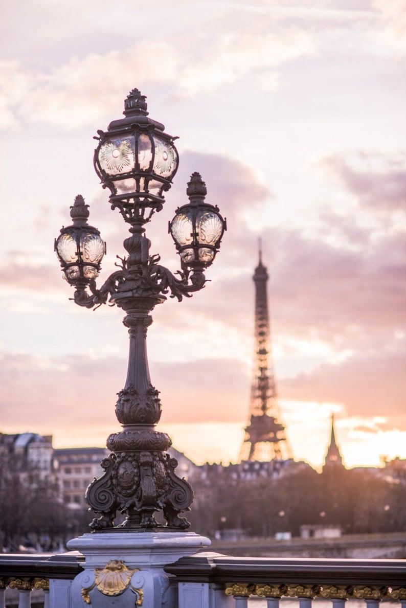Sunset from Pont Alexandre III (vertical)