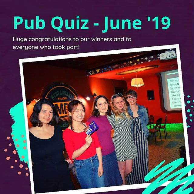On Saturday we celebrated the end of the semester by having our obligatory pub quiz. It was our fifth quiz and most certainly our biggest.  Thank you to everyone who came and studied with us this year 🙌