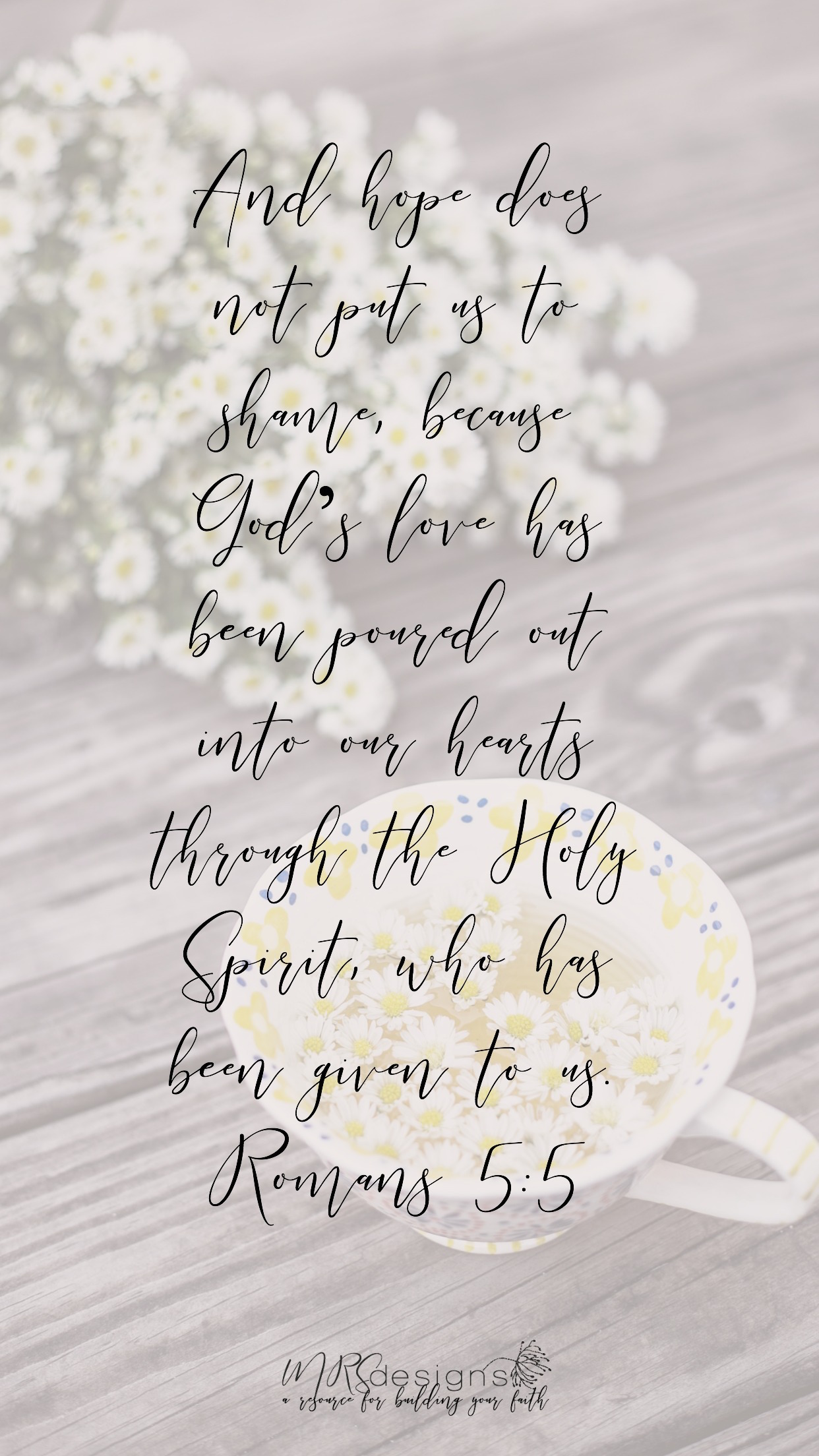 Romans 5_5 MRS designs iphone lock screen