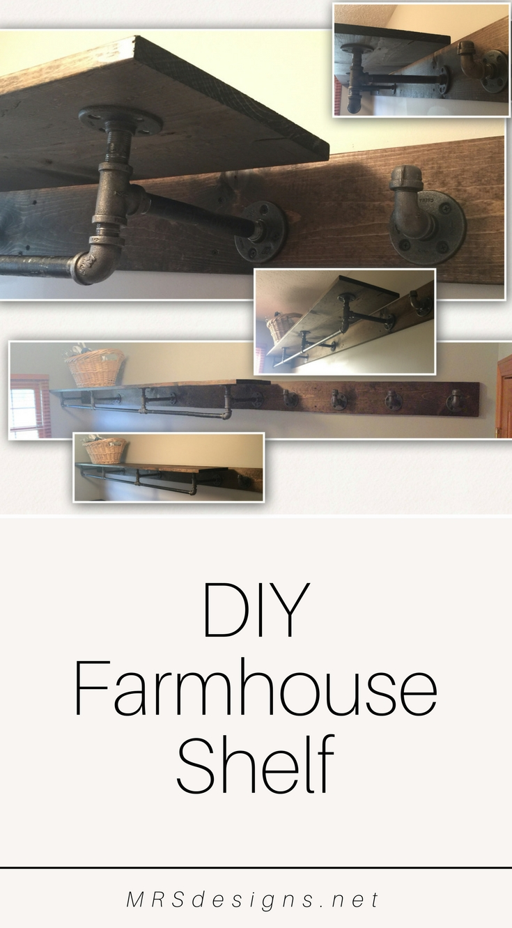 How to build a Farmhouse Laundry Shelf MRSdesigns.net | Home Decor | Rustic Shelf | Laundry Room | DIY.jpg