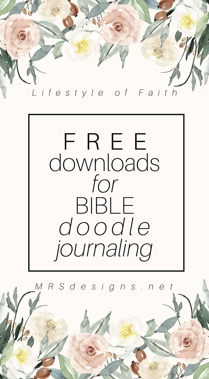 How to Bible Doodle Journal. 6 simplified steps   Bible Study   Journaling   How to Doodle   MRSdesigns.net #BibleJournaling #DoodleArt #Journaling #BibleStudy #faith #christianity