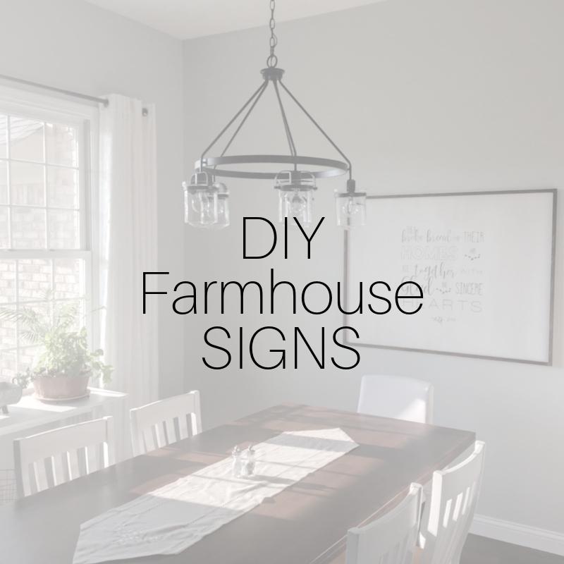 DIY Farmhouse Signs for under $20