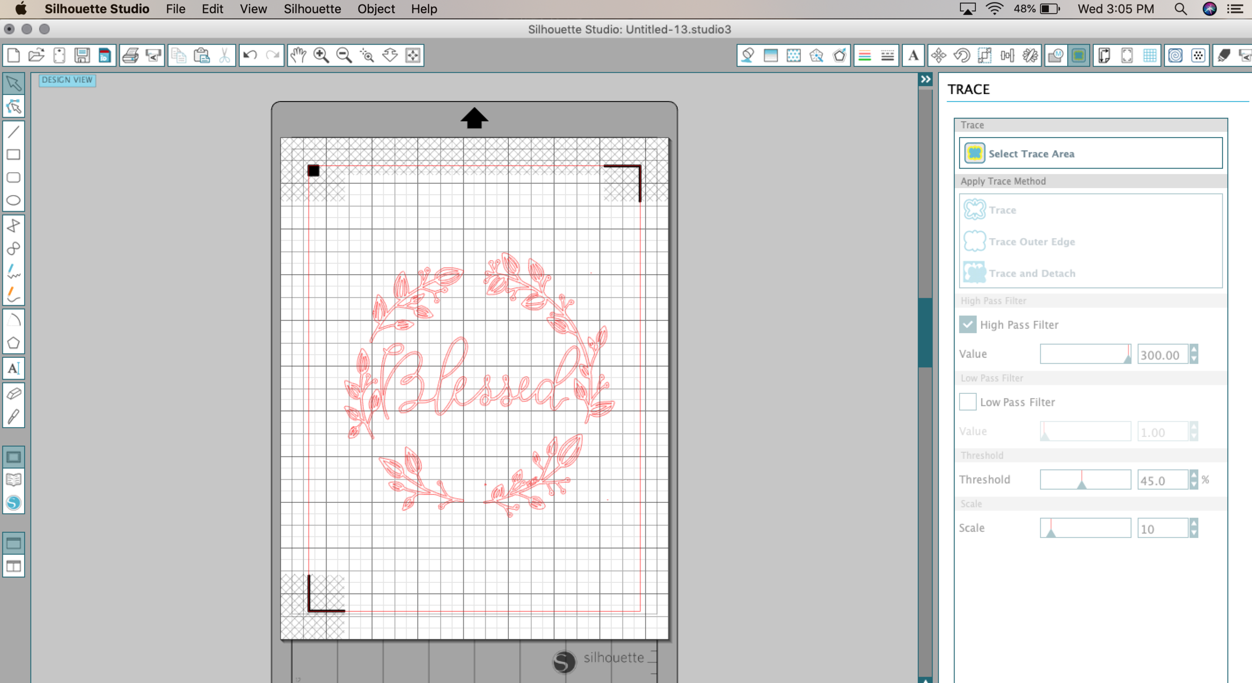 How to Use Hand Drawn Art with Cutting Machine MRSdesigns.net Trace tool.png