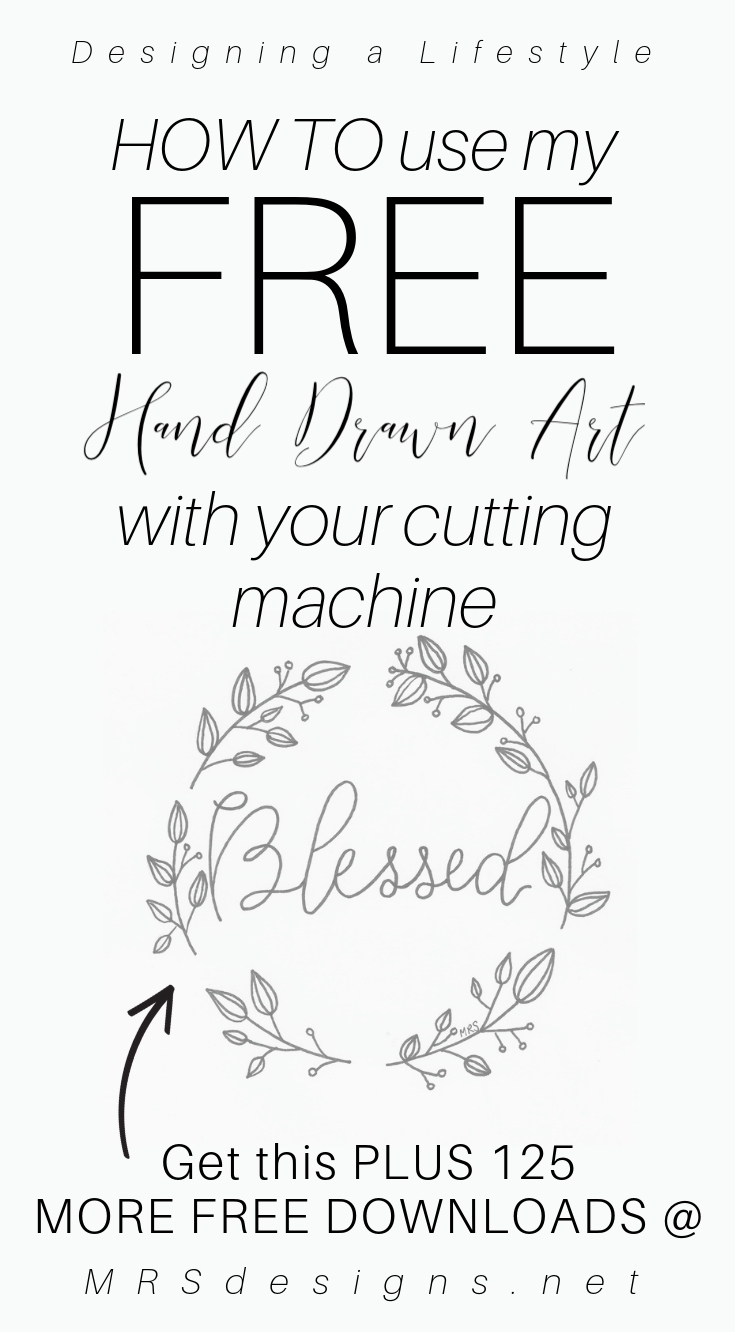 how to use hand drawn art with a cutting machine