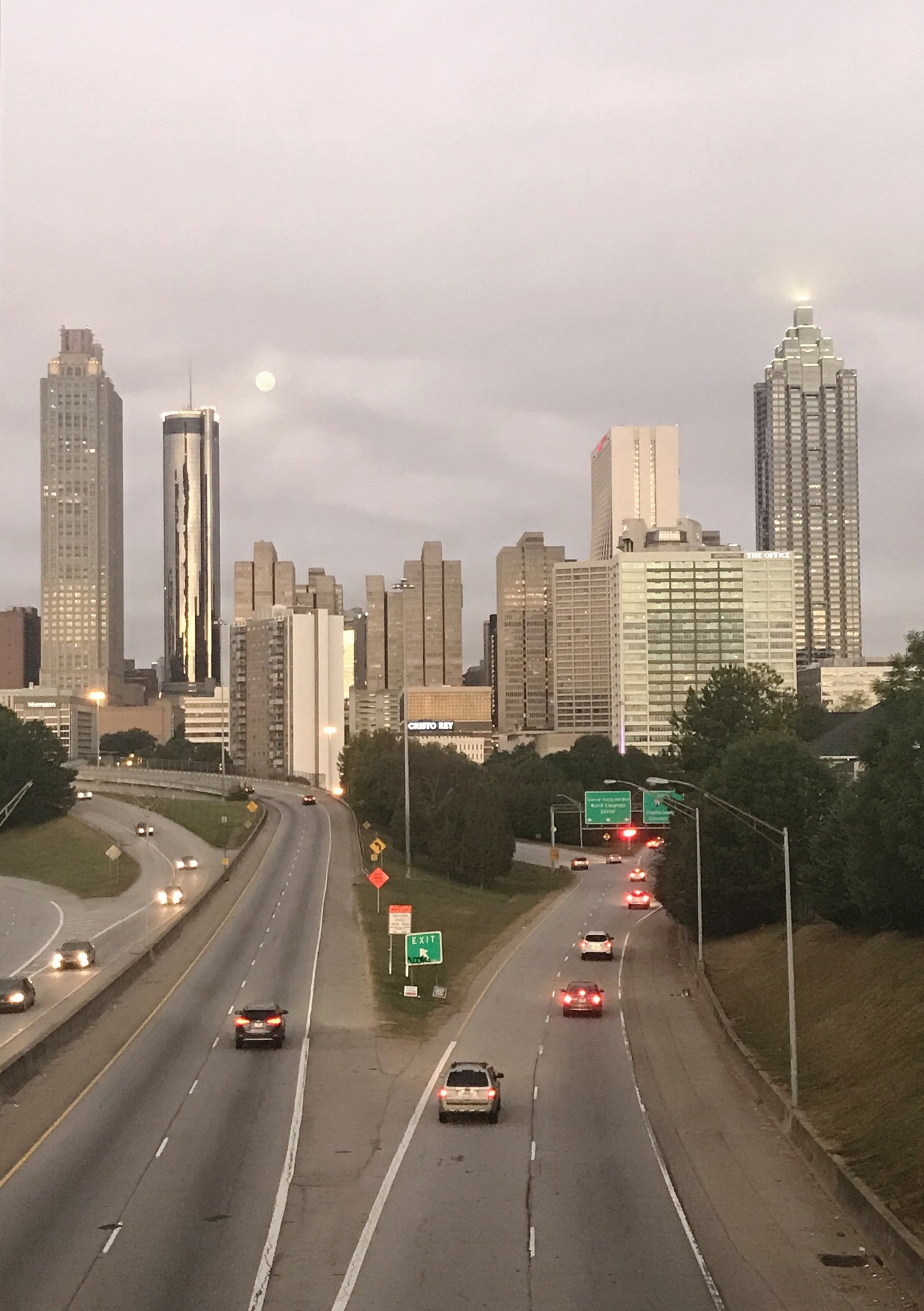 Sunrise in ATL with the recent harvest full moon