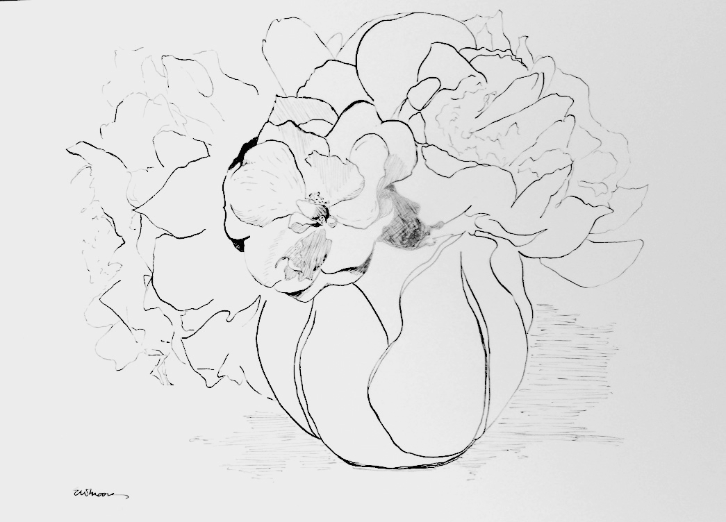 Rose with Peony Blossoms