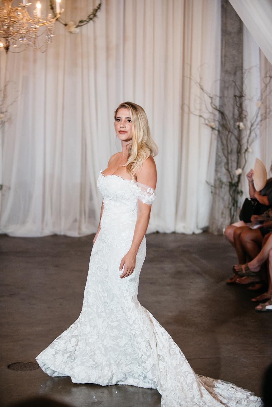 Model Meghan Vanderford wearing Atelier Pronovias