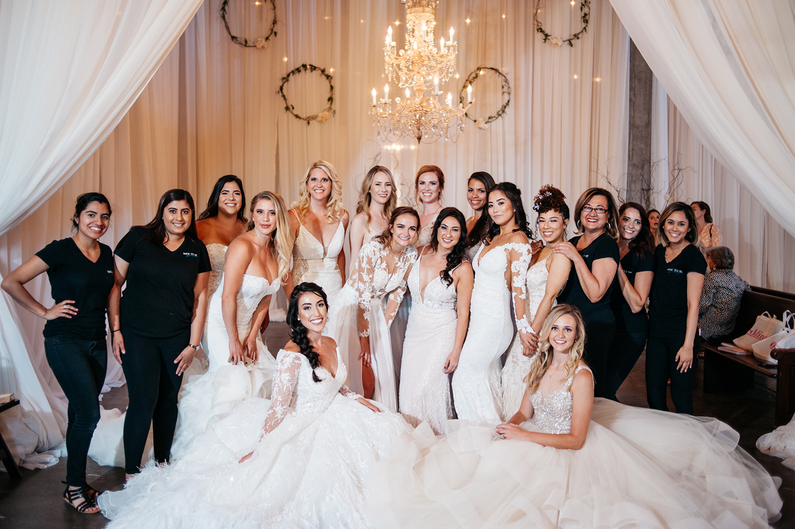 Our lovely models and the Bride To Be Couture team.