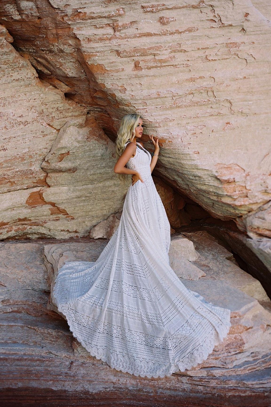 Wilderly Bride Wedding Dresses | Boho Unique Lace A-Line Wedding Dress